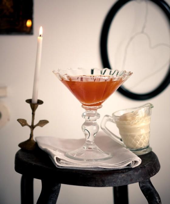 Zitrus-Götterspeise mit Vanillecreme