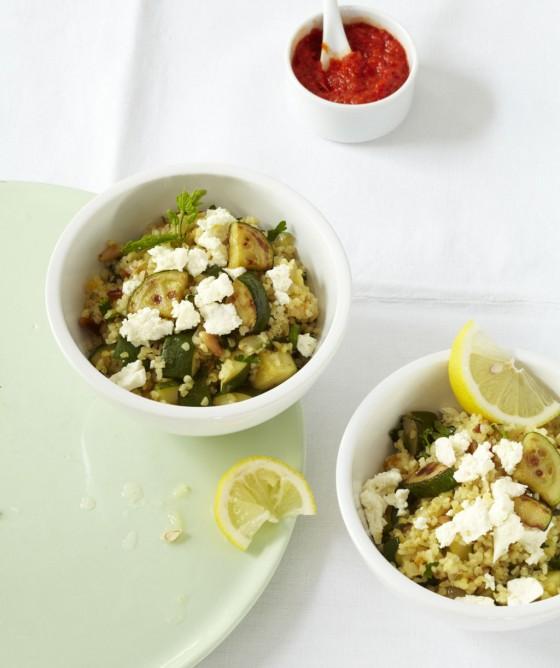 Zucchini-Bulgur-Pfanne
