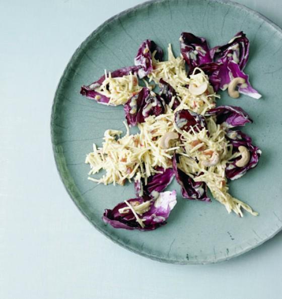 Pastinaken apfel salat mit radicchio