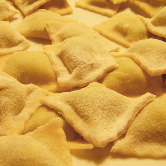 Ravioli mit Spinat, Ricotta und Pecorino
