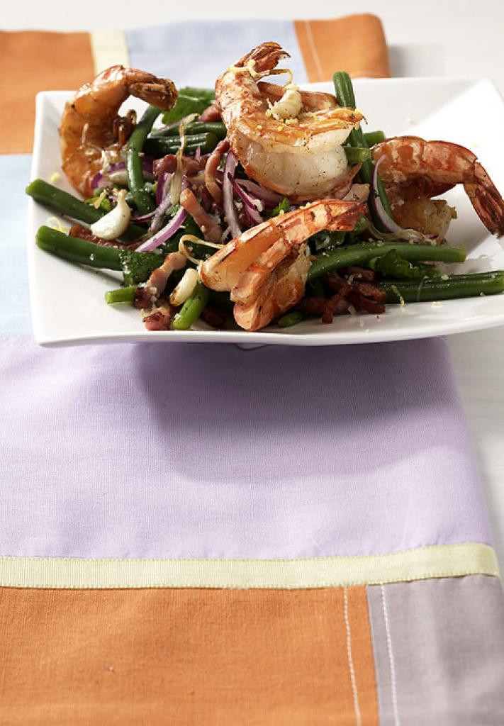 bohnen garnelen salat rezept essen und trinken. Black Bedroom Furniture Sets. Home Design Ideas