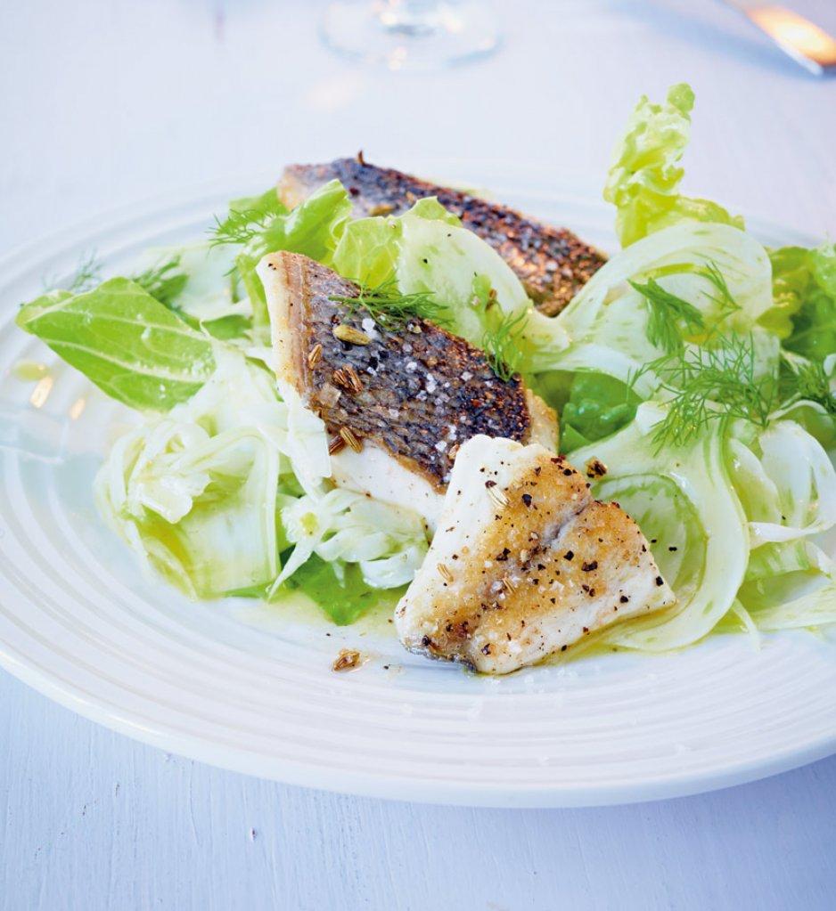 fenchelsalat mit fisch rezept essen trinken. Black Bedroom Furniture Sets. Home Design Ideas