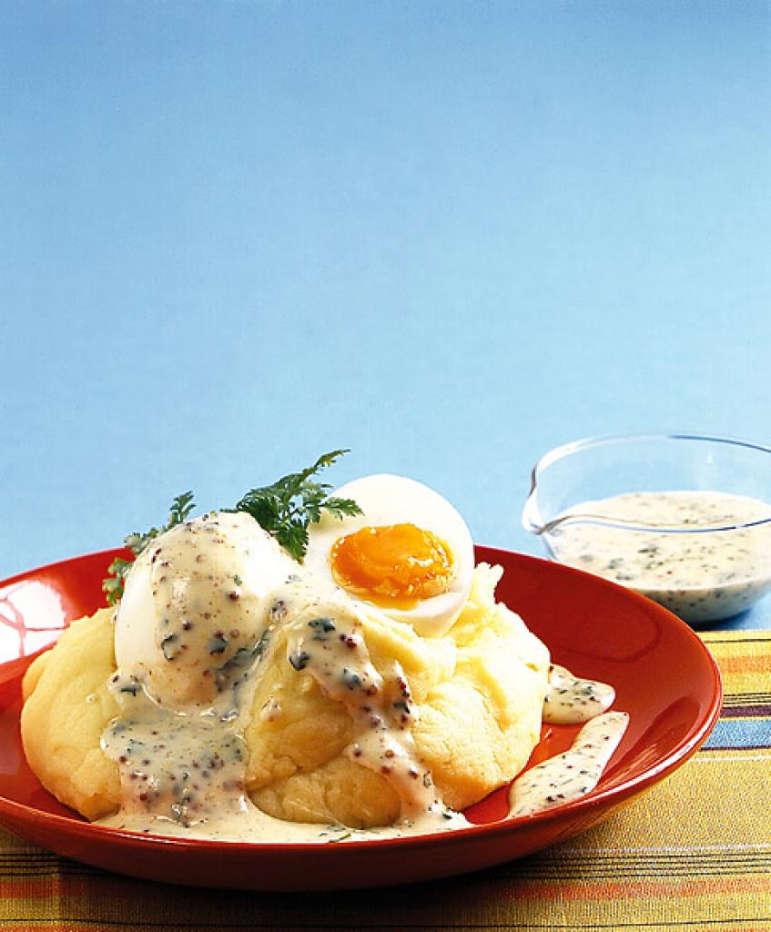 Kerbel senf eier rezept essen und trinken - Eier kochen zeit ...