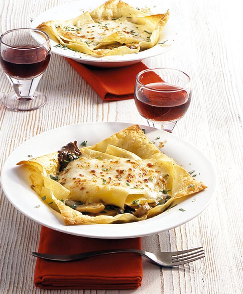 lasagne mit pilzen rezept essen und trinken. Black Bedroom Furniture Sets. Home Design Ideas