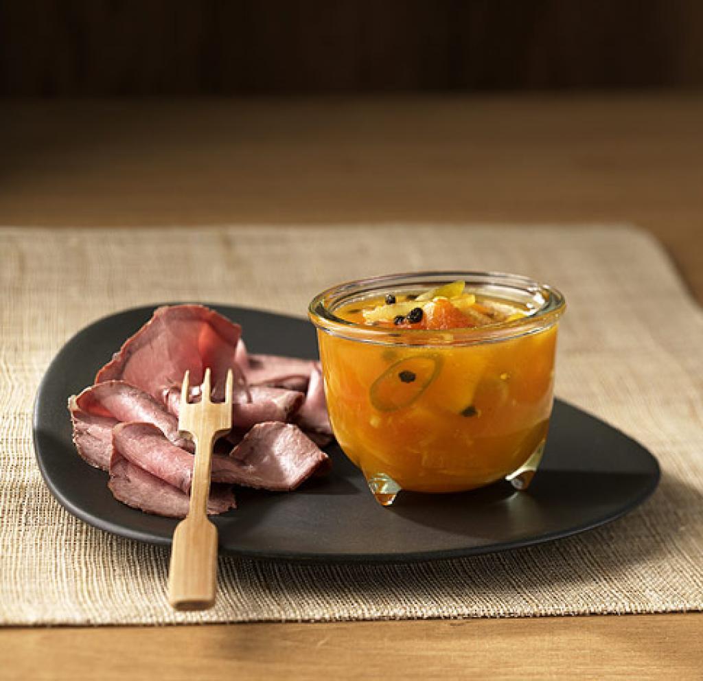 orangen papaya chutney rezept essen und trinken. Black Bedroom Furniture Sets. Home Design Ideas