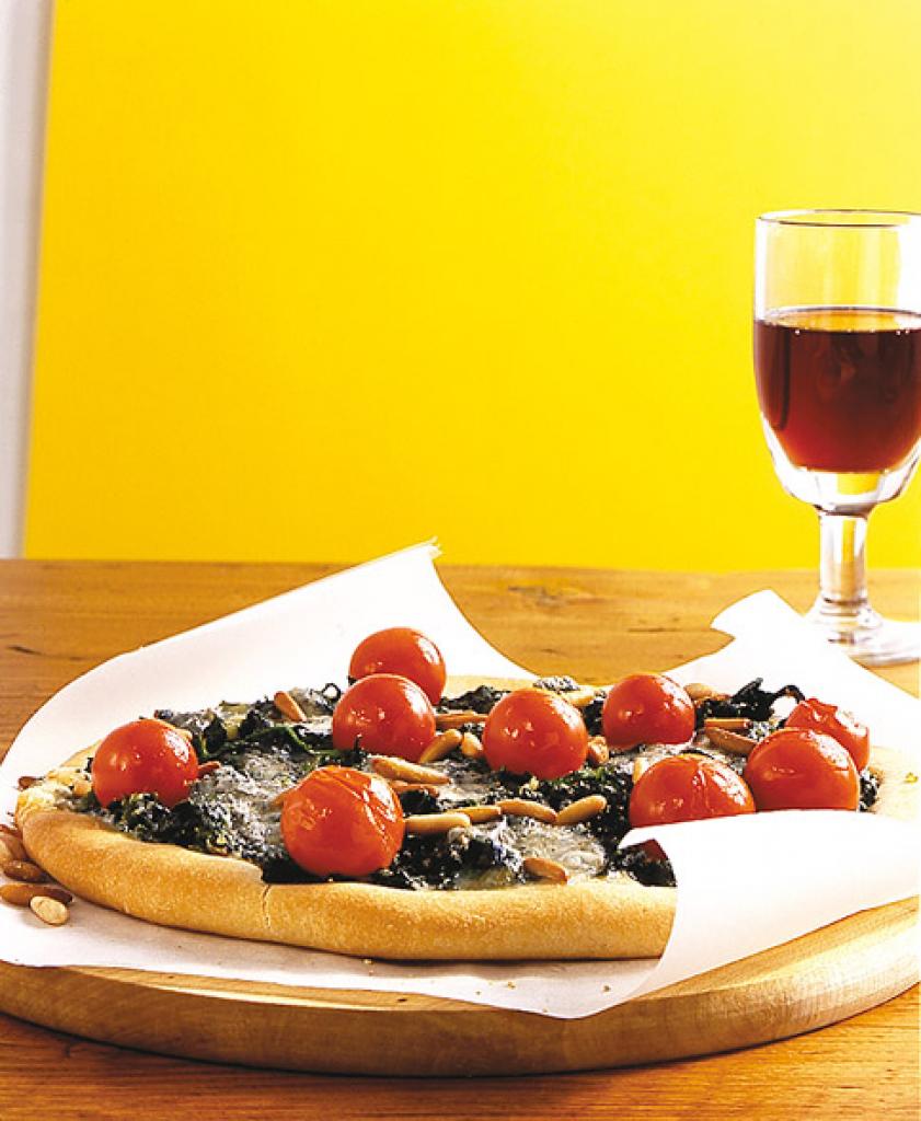 spinat pizza rezept essen trinken. Black Bedroom Furniture Sets. Home Design Ideas