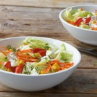 Bunter Salat mit Kressesauce