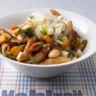 Nudeln mit Bohnen-Sugo