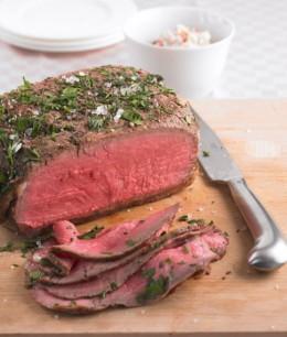 Roastbeef mit Radieschen-Dip