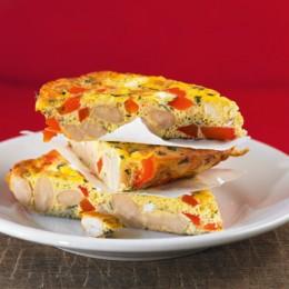 Bohnen-Tortilla mit Paprika