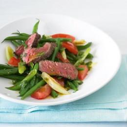 Bohnensalat mit Steak