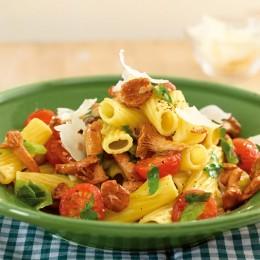 Pfifferling-Tomaten-Nudeln