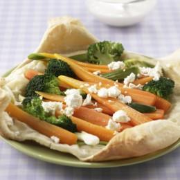 Überbackenes Gemüse