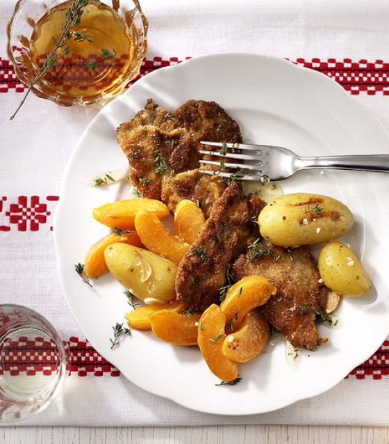 Aprikosen-Schnitzelini