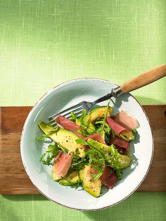 Avocado mit Vinaigrette