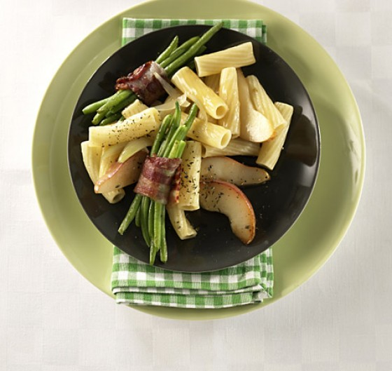 Birnen-Bohnen-Speck-Pasta