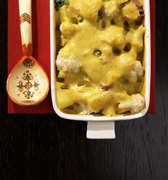 Blumenkohlauflauf mit Curry