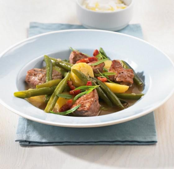 Bohnen-Fleisch-Eintopf
