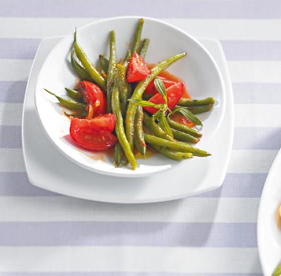Bohnen-Tomaten-Gemüse