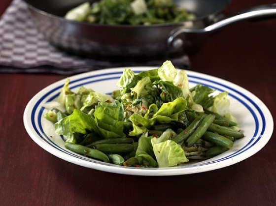 Bohnen-Endivien-Gemüse