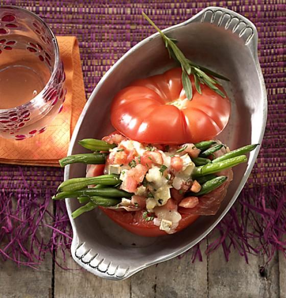 Bohnen-Tomaten