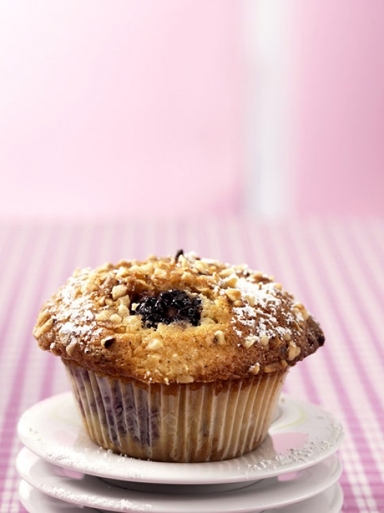 Brombeer-Haselnuss-Muffins
