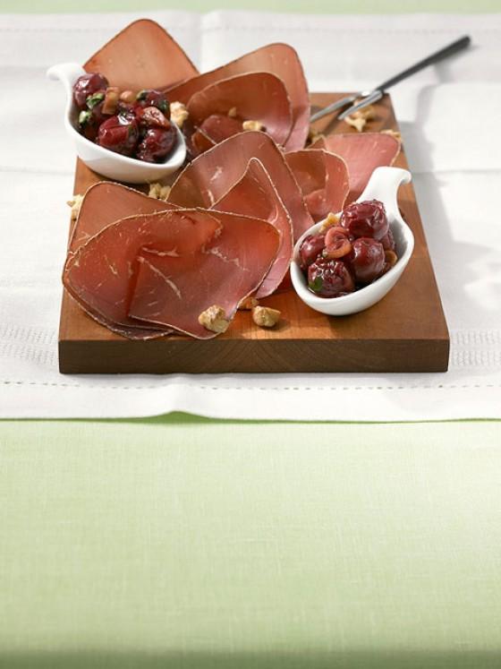 Bündner Fleisch mit Kirschchutney