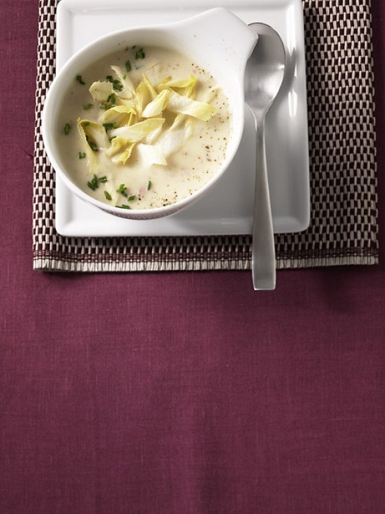 Chicorée-Kartoffelsuppe