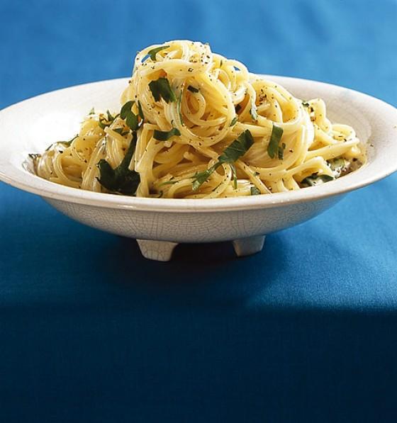 Drei-Käse-Spaghetti