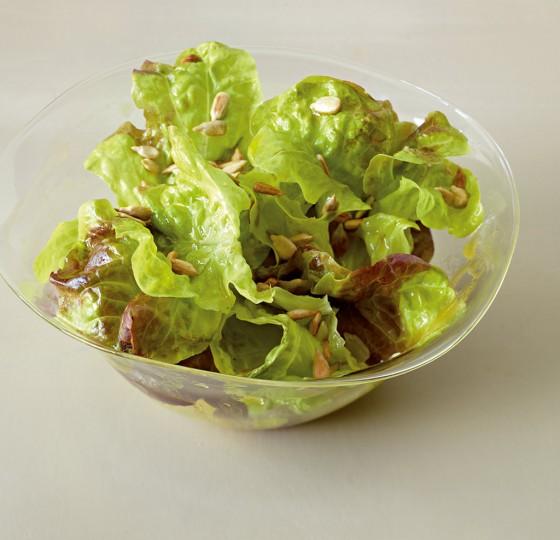 Eichblattsalat mit Apfelsaft-Dressing