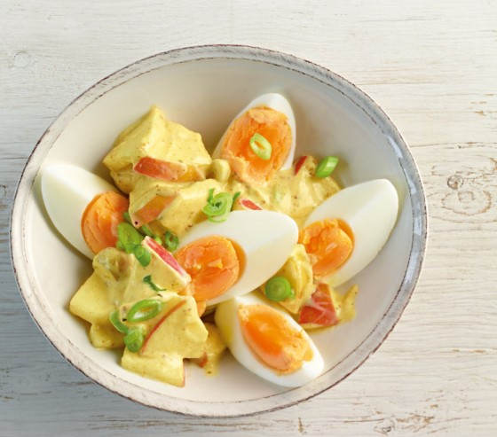Eiersalat mit Curry