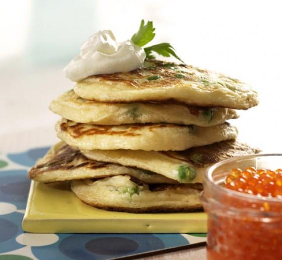 Erbsen-Pancakes