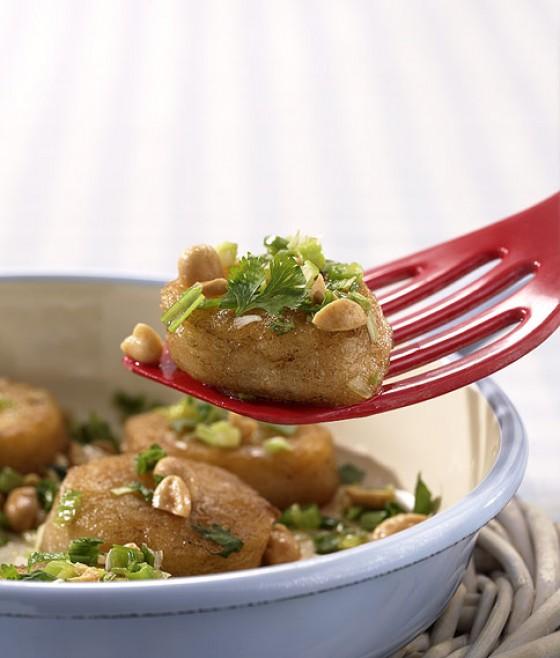 Erdnuss-Kartoffelplätzchen