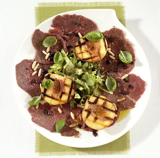 Filetscheiben mit Grillpfirsich