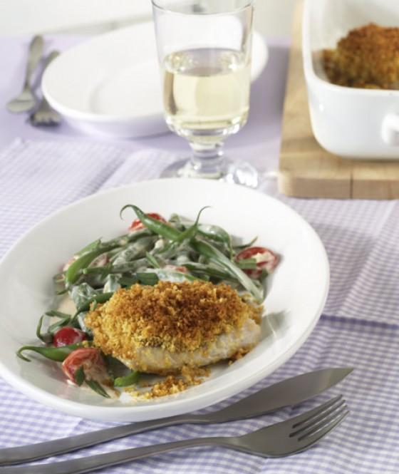 Fisch mit Kräckerkruste