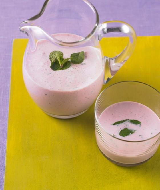 Fruchtiger Minzjoghurt