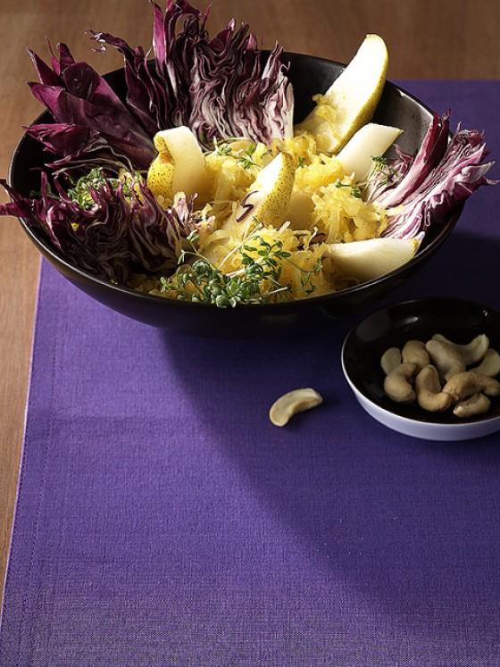 Fruchtiger Sauerkrautsalat