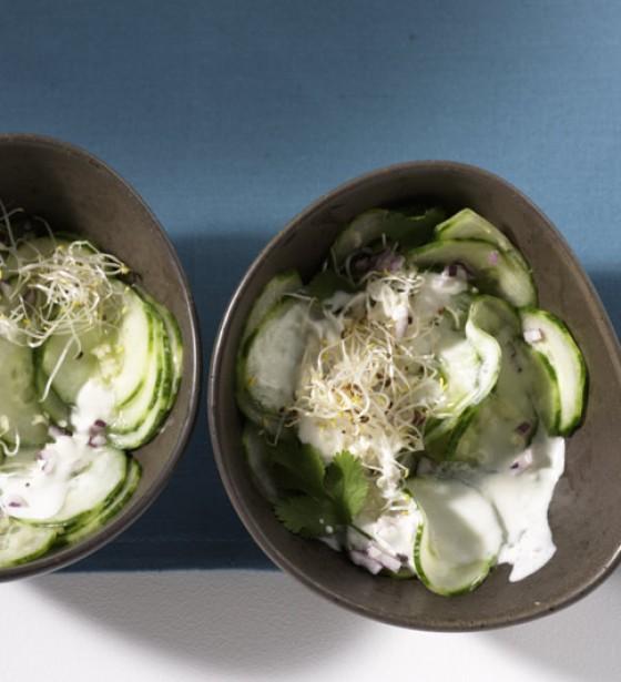 Gurkensalat mit Ingwersauce