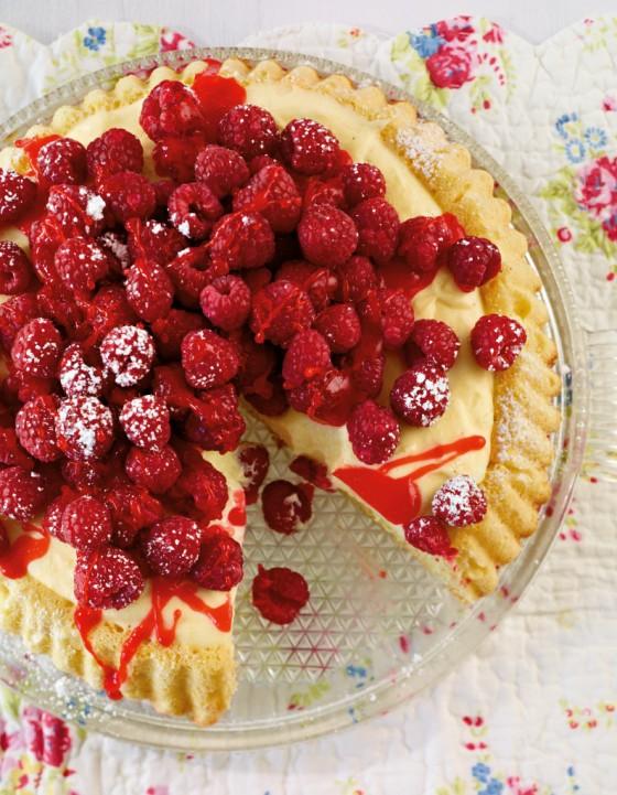 Himbeer-Vanille-Obstkuchen