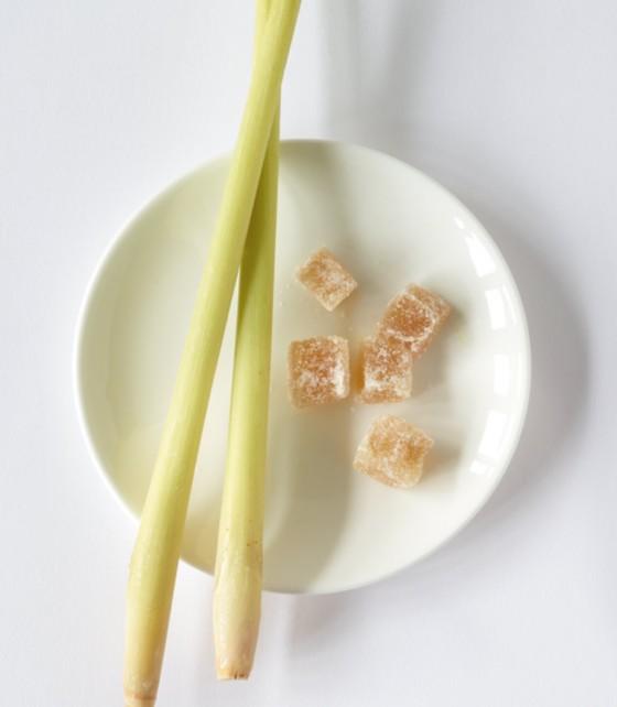 Ingwer-Zitronengras-Rhabarberkompott