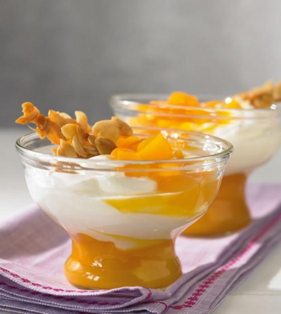 Joghurtsahne mit Aprikosen