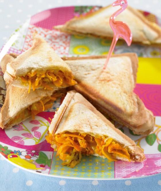 Käse-Möhren-Sandwich