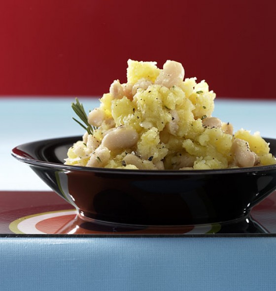 Kartoffel-Bohnen-Stampf