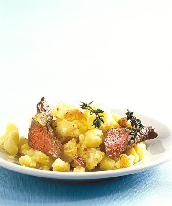 Kartoffelstampf mit Lammfilet