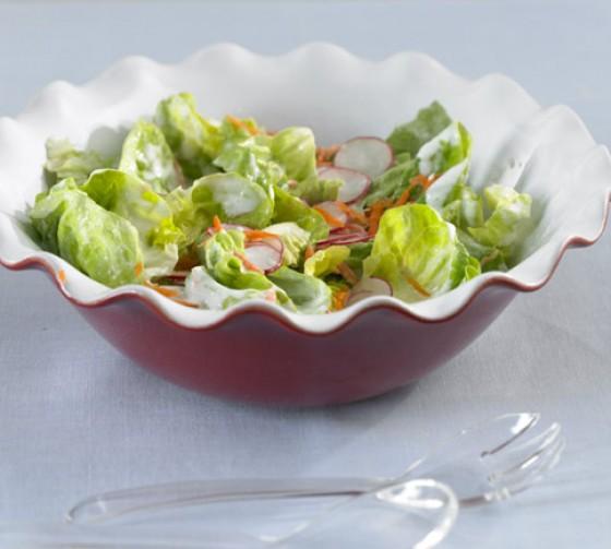 Kopfsalat mit Joghurtdressing
