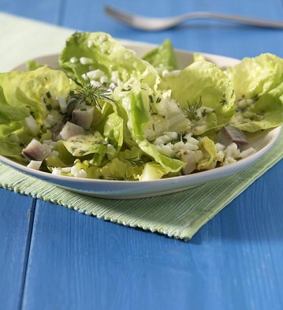Kopfsalat mit Ei-Dressing