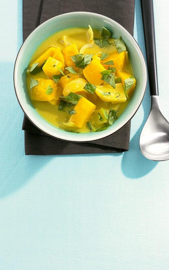 Kürbis-Currysuppe