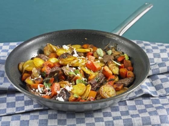 Kürbis-Kartoffel-Gröstl