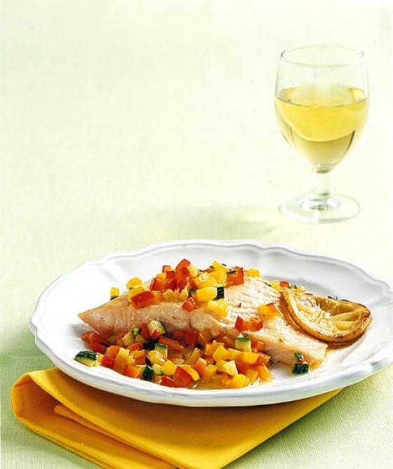 Lachs mit Gemüse-Vinaigrette