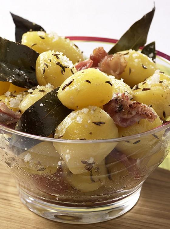 Lorbeer-Speck-Kartoffeln